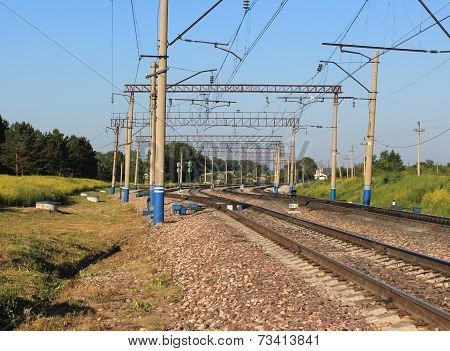 Railroad track infrastructure