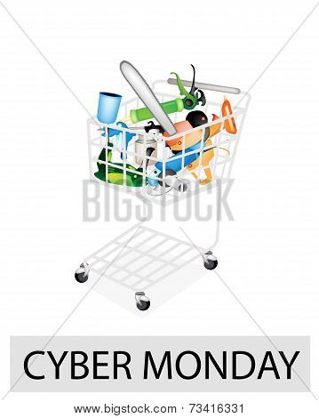 Craft Tools in Cyber Monday Shopping Cart