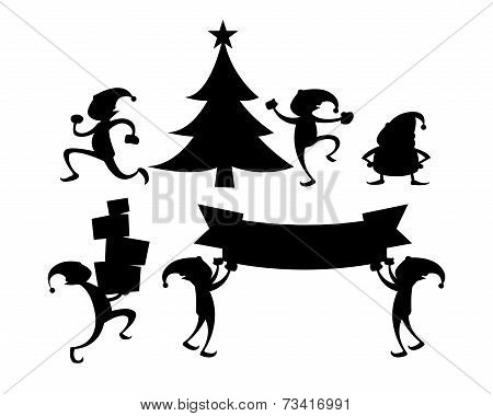 Elf Silhouette Set