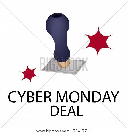 A Rubber Stamp With Word Cyber Monday Deal