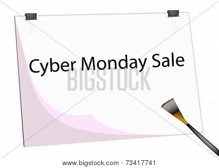 Clipboard and Paintbrush With Word Cyber Monday Sale