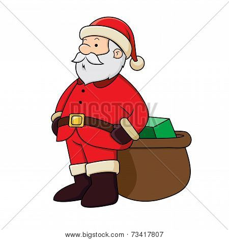 Santa Clause With Presents