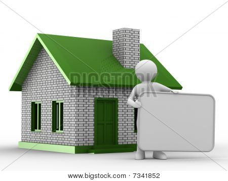 Presentation Of New House. Isolated 3D Image