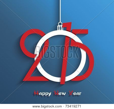 Happy New Year 2015 Greeting Card Design