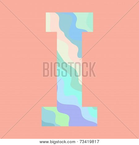 The letter I. Element of alphabet