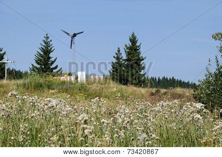Electric wind generator in Gold bridges, Vitosha mountain