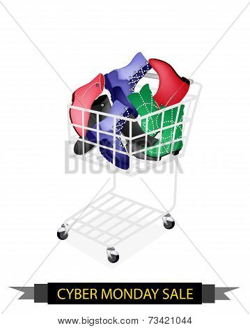 Women Shoes in Cyber Monday Shopping Cart