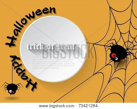 Abstract Background For Halloween With Spider