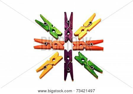 Stationary Clothes Pins
