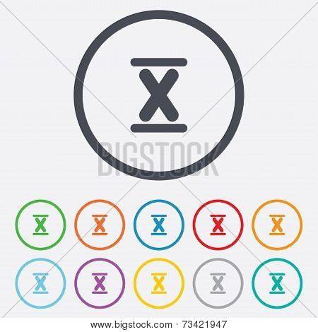 Roman numeral ten icon. Roman number ten sign.
