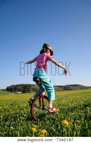 Riding Unicycle