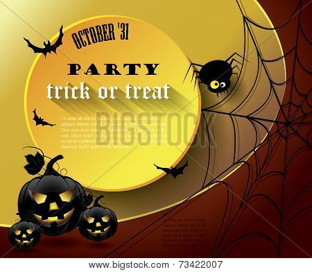 Halloween Party Poster With Message.
