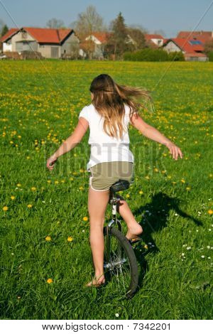 Unicycle And Field