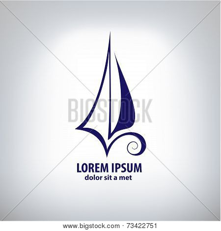 Vector ship sign corporate logo