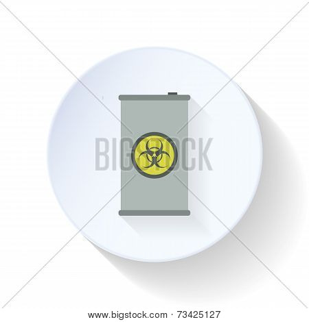 Drum With Toxic Chemicals Flat Icon