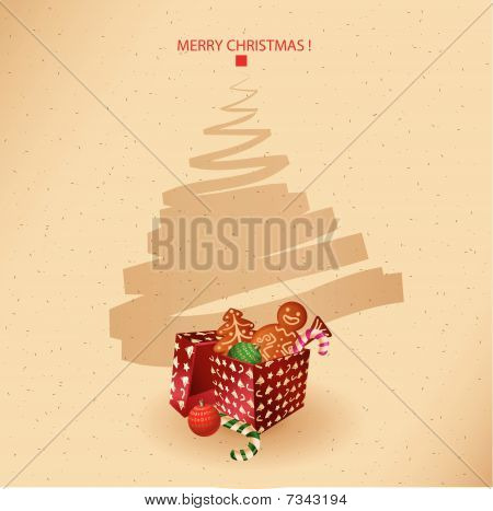 christmas greeting card- presents