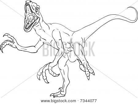 Spinosaur Attacking