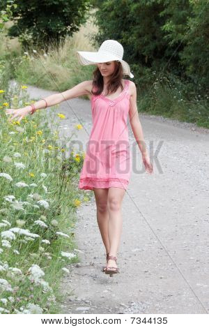 A Beautiful Girl In The Country