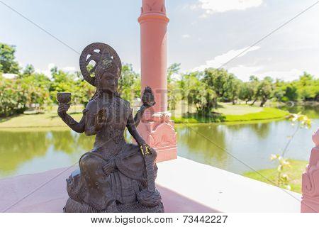 The Hindu God Vishnu Statue