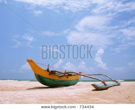 Sri Lankan fishing boat