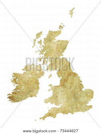 Great Britain Antique Texture Map