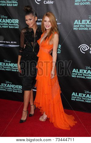 LOS ANGELES - OCT 6:  Zendaya Coleman, Bella Thorne at the