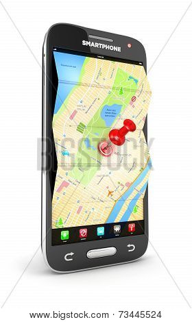 3d road map in smartphone