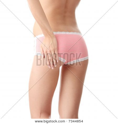 Woman Ass With Hand On