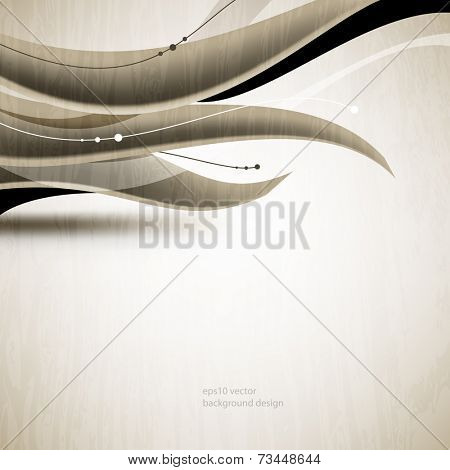 eps10 vector monochromatic wave elements business background
