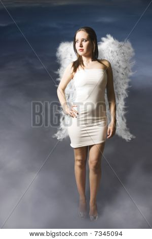 Angel walking on heaven