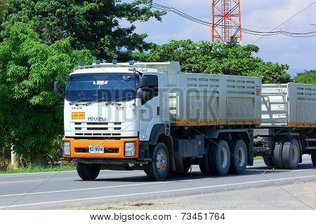 Trailer dump truck