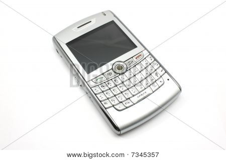 Silver Phone And Email Device