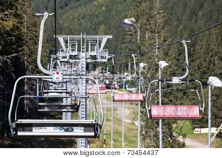 Empty Cableway At Low Tatras, Slovakia