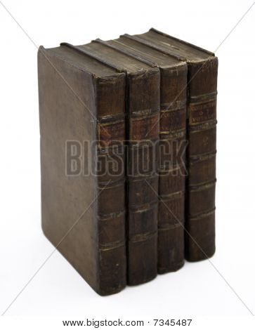 Row Of Antique Travel Books