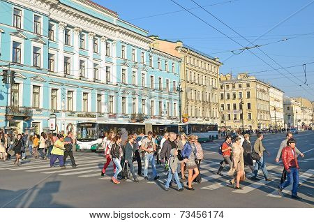 Nevsky Prospect In Saint-peterburg, Russia