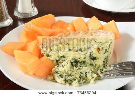 Quiche With Cantaloupe