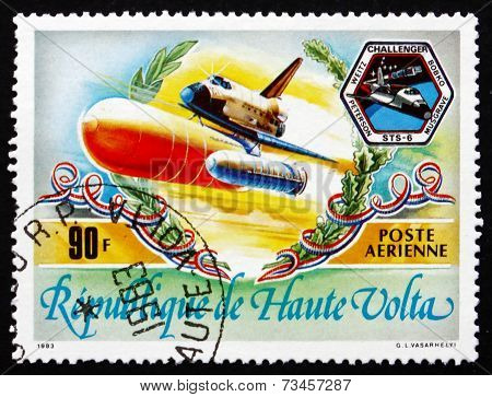 Postage Stamp Burkina Faso 1983 Space Shuttle Challenger