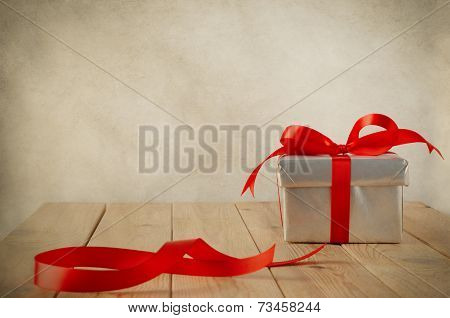 Wrapped Gift With Leftover Ribbon