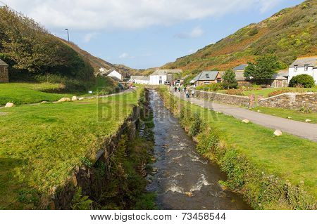 River in Boscastle North Cornwall England UK on a beautiful sunny autumn day