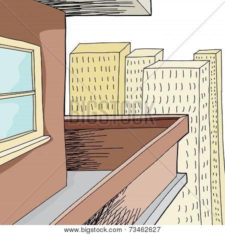 Empty Condominium Balcony