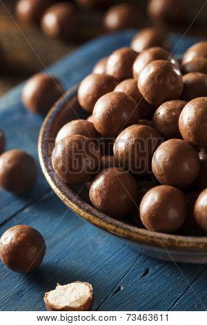 Dark Chocolate Malted Milk Balls