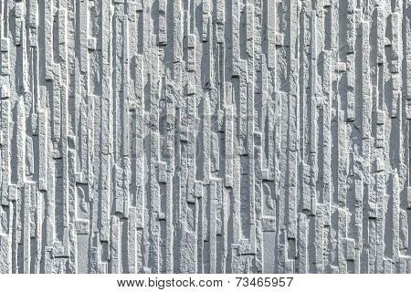White wall with strong relief