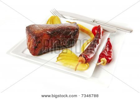Meat And Peppers