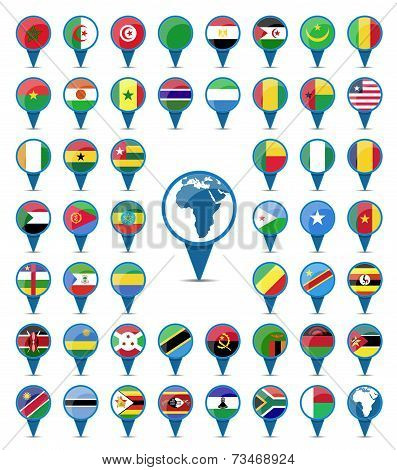 National Flags Flags Of Africa