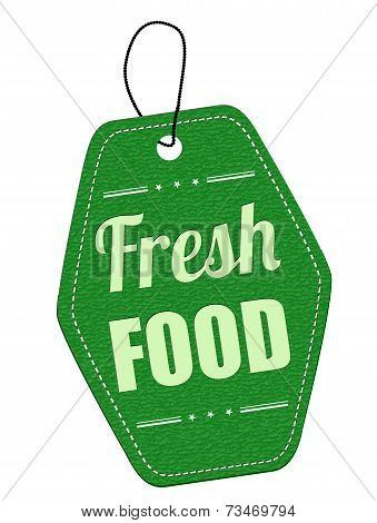 Fresh Food Green Leather Label Or Price Tag