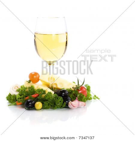 Cheese And White Wine