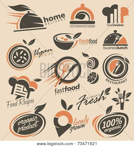 Restaurant signs and symbols collection