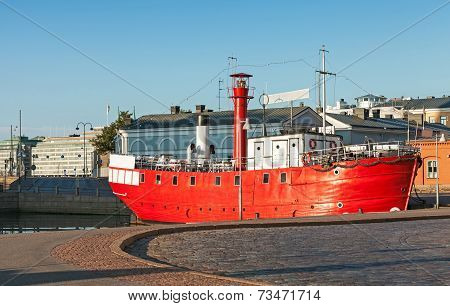 Historic Red Lightship, Decommissioned Floating Lighthouse