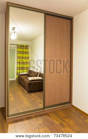 Bedroom with built in modern wardrobe