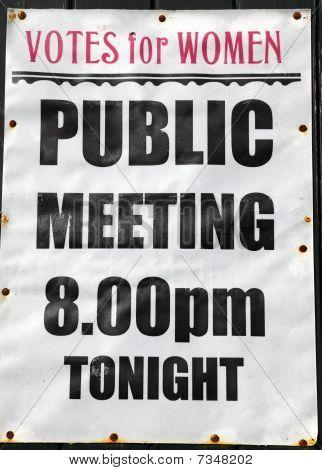 öffentliche Sitzung poster